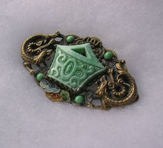 Max Neiger chinese design Brooch with clouds  dragons