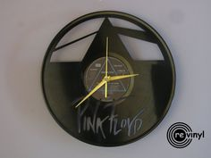 Pink Floyd clock vinyl record clock  pink floyd Pink by Revinylit