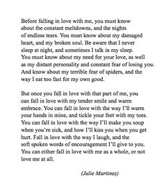 If you fall in love with me quotes
