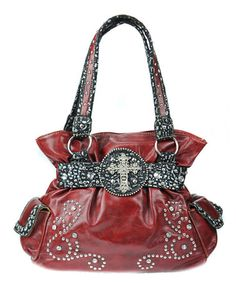 Another great find on #zulily! Red Western Embellished Handbag by Princess Purse #zulilyfinds