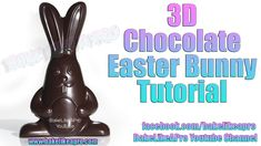 Happy Easter ! 😁  3D Chocolate Easter Bunny Tutorial  ✅ Full tutorial on my YouTube channel and Facebook page: www.facebook.com/bakelikeapro  #Easter #chocolate #tutorial #food #candy Best Chocolate Cake, Chocolate Glaze, How To Make Chocolate, Chocolate Recipes, Fudge Recipes, Yummy Recipes, Chocolate Easter Bunny, Baking Basics, Good Food