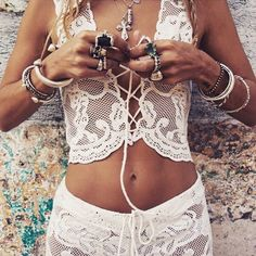 ╰☆╮Boho chic bohemian boho lace style hippy hippie chic bohème vibe gypsy fashion indie folk the . Style Hippie Chic, Gypsy Style, Boho Gypsy, My Style, Boho Style, Boho Hippie, Boho Chic, Hippy Chic, Look Fashion