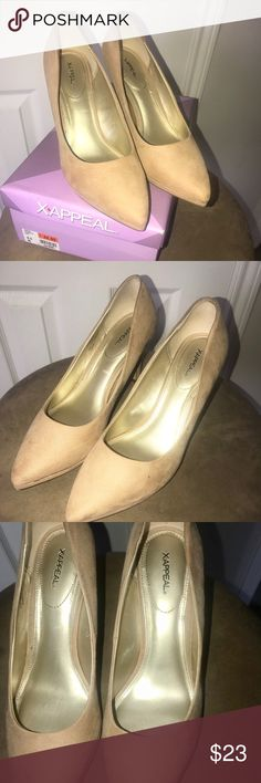 FRANCHESCA SUEDE PUMPS Xappeal beautiful suede cream pumps. Only worn 1 for my daughter prom . Great buy🎉💐 Francesca's Collections Shoes Athletic Shoes