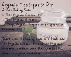 Organic Toothpaste Diy Spearmint Essential Oil, Essential Oils, Organic Toothpaste, Health Heal, Diy Beauty, Beauty Stuff, Healthy Teeth, Do It Yourself Projects, Mouthwash