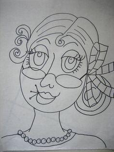 "https://flic.kr/p/agnGQK | #4 drawing in Ladies Series | ""Maria"""