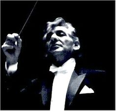 Leonard Bernstein, famous conductor. (Saw him conduct the touring Vienna Philharmonic in Chicago's Orchestra Hall in 1984, at which time he fell off the podium, which was a very rare and scary thing to see.) (KevinR@Ky)