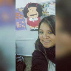 Arrancando la última semanita de residencia con mi amiga personal! #Mafalda  by beluff