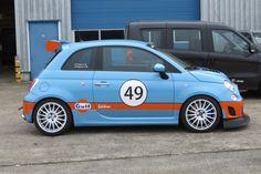 500 Abarth Gulf Edition Fiat 500, Sport Cars, Race Cars, New Fiat, Automobile Companies, Fiat Cars, Alfa Romeo Spider, Martini Racing, Fiat Abarth