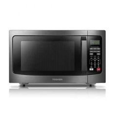 Toshiba Microwave Oven with Smart Sensor, Easy Clean Interior, ECO Mode and Sound On/Off, Cu.ft, Black Stainless Steel - The Wall Clock Best Countertop Microwave, Compact Microwave Oven, Panasonic Microwave, Countertop Microwaves, Bulthaup Kitchen, Stainless Steel Countertops, Stainless Kitchen