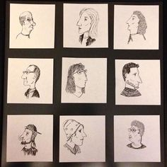 "a new photo taken by ilgalemane_skices! ""100 labi cilvēki""/""100 good people"" in progress #people #caricature #portraits #bignoses #drawing #karikatūra #cilvēki #profili #lielideguni http://bit.ly/20I4KXH - http://on.fb.me/1GfSoCa"