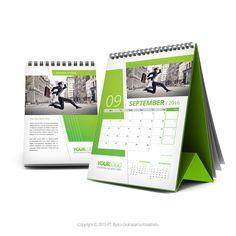 Green Desk Calendar 2016 by tempro.bytco.co.id