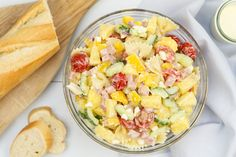 Hawaiiaanse pastasalade Quick Healthy Meals, Healthy Eating, Healthy Recipes, Pasta Recipes, Salad Recipes, Cooking Recipes, Healty Lunches, Superfood Salad, Good Food