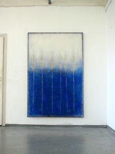 CHRISTIAN HETZEL: velvet blue 2015 - 190 x 125 x 4 cm - Mischtechnik auf Leinwand