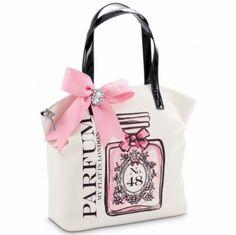 My Flat in London I Believe in Pink Parfum Large Zip Top Tote