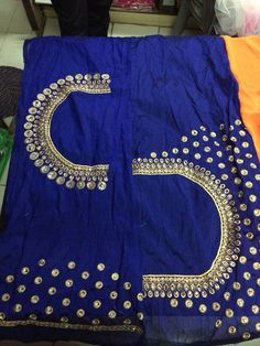 To buy, pls whatsapp on 9618821933 Fancy Blouse Designs, Saree Blouse Designs, Blouse Desings, Mirror Work Blouse, Maggam Work Designs, Salwar Designs, Blouse Models, Blouse Patterns, Embroidered Blouse