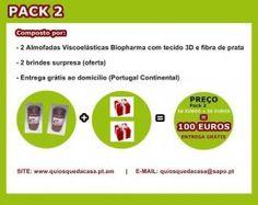 ENTREGA GRÁTIS  Pack 1 ou 2 Almofadas Viscoelásticas Biopharma 3D