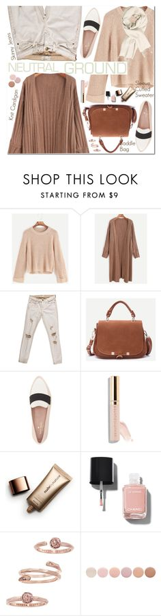 """""""Cool Neutrals"""" by oshint ❤ liked on Polyvore featuring Current/Elliott, Kate Spade, Beautycounter, Nude by Nature, Chanel, Kendra Scott and Deborah Lippmann"""