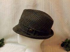 35c081f5037 Vintage 70s Mens Fedora Gray Tweed Hat Size 7 Hat Sizes