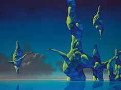 This HD wallpaper is about abstract, artwork, Roger Dean, Original wallpaper dimensions is file size is Magritte, Science Fiction, Roger Dean, Dragon Dreaming, 70s Sci Fi Art, English Artists, Fantasy Landscape, Fantasy Art, Creative Senior Pictures