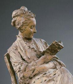 Woman reading, 1864, Jules Dalou