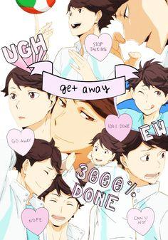 haikyuu :P oikawa tooru Kageyama Tobio, Kuroo, Manhwa, Haikyuu Wallpaper, Collage, Iwaoi, Karasuno, Haikyuu Anime, My Tumblr