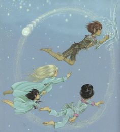 "Janet and Anne Grahame Johnstone, ""Peter Pan"" illustration"