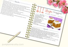 Editable cook book Recipe template recipe pages by purrplanner                                                                                                                                                     More
