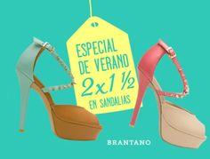 BRANTANO ha preparado un especial de verano en sandalias al 2 x 1 1/2 para esta temporada. ¡No se lo pueden perder!  Para conocer más rebajas de fin de temporada y cómo ganar una GMC ACADIA DENALI visitar: http://www.antara.com.mx