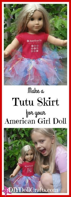 Does your child love her 18 inch dolls? Learn how to make a no-sew DIY tutu for an American Girl doll. So stinkin' cute! Learn how to make it here.
