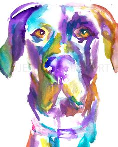 Print of Watercolor Painting Toby the Great by ArtbyJessBuhman