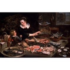 The Fish Market Frans Snyders (1579-1657 Flemish) Pushkin State Museum Moscow Russia Canvas Art - Frans Snyders (18 x 24)
