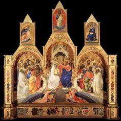 Incoronazione della Vergine, capolavoro di Lorenzo Monaco che potete ammirare agli Uffizi