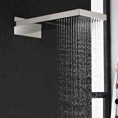 Alcachofa de Ducha Rectangular Función Doble Efecto Lluvia y Cascada de 500 x 200mm con Brazo Integrado - Image 2