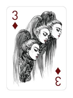 Fashion Playing Cards by Connie Lim Pt. 3 on Behance