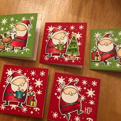 Finally found my Christmas mojo. A bit late I know! Dyi Christmas Cards, Handmade Christmas, Holiday Gift Tags, Holiday Cards, Wink Of Stella, Mft Stamps, Jingle All The Way, Winter Cards, Card Tags