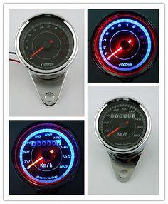 Motorcycle-Odometer-Speedometer-Tachometer-Speedo-Meter-LED-4-Honda-Cafe-Racer