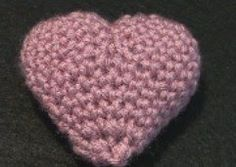 Crochet Valentine Puffy Heart