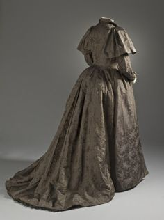 Woman's Tea Gown by Liberty & Co.  England, London, circa 1895 Silk twill with supplementary weft-float patterning (M.2007.211.901)   LACMA Collections