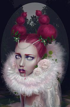 Hot Mixed Media Portraits by Ilona D. Veresk