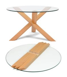 Fine Wood Table Designs Look around as you move throughout your day. You see examples of man's mastery of woodworking everywhere. From mailbox posts to pieces of furniture and art to full buildings, the power to use wood to create is Wood Projects, Woodworking Projects, Woodworking Books, Wood Table Design, Chair Design, Wood Joints, Diy Coffee Table, Glass Top Coffee Table, Diy Holz
