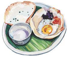 World Food Illustrations for Voyeur Magazine by Holly Exley, via Behance