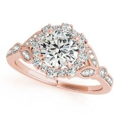 STYLE# 50868-E - Round - Halo - Engagement Rings