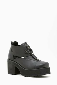 4f8ddcb7a7c UNIF Lost Sole Platform Boot Black Milk Clothing