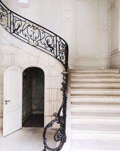 Parisian staircase. by songofstyle