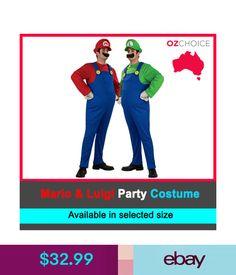 mens super mario luigi brothers fancy party costume halloween dress up nintendo