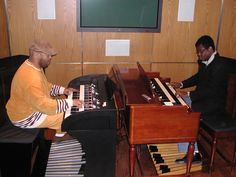 Playing the organ with my dear friend Dennis Montgomery III when I was still the Assistant Chair of the piano Department and we had the first gospel week as a celebration of the piano week.
