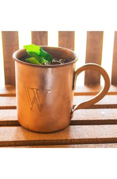"BUY NOW http://amzn.to/2gbDQfv - Moscow mule cocktails are traditionally served in copper mugs, but these charming rustic mugs are good for any concoction you can come up with. The custom engraving adds a personalized touch. - 4"" h"
