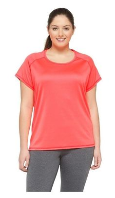 0366f35d0 $16.99 - C9 Champion Women's Plus Size Short Sleeve Tech Tee Flashlight  Vibrant Pink #champion