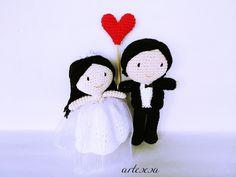 novios,novios tarta,novios amigurumi,boda, wedding