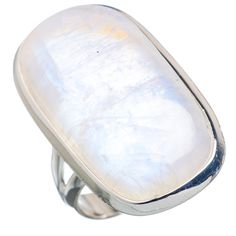 Large Rainbow Moonstone 925 Sterling Silver Ring Size 7.5 RING720981